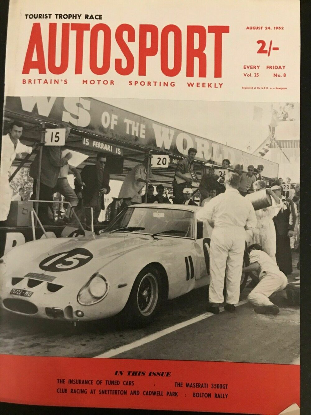 Autosport Magazine 24 August 1962 Ireland Ferrari Wins