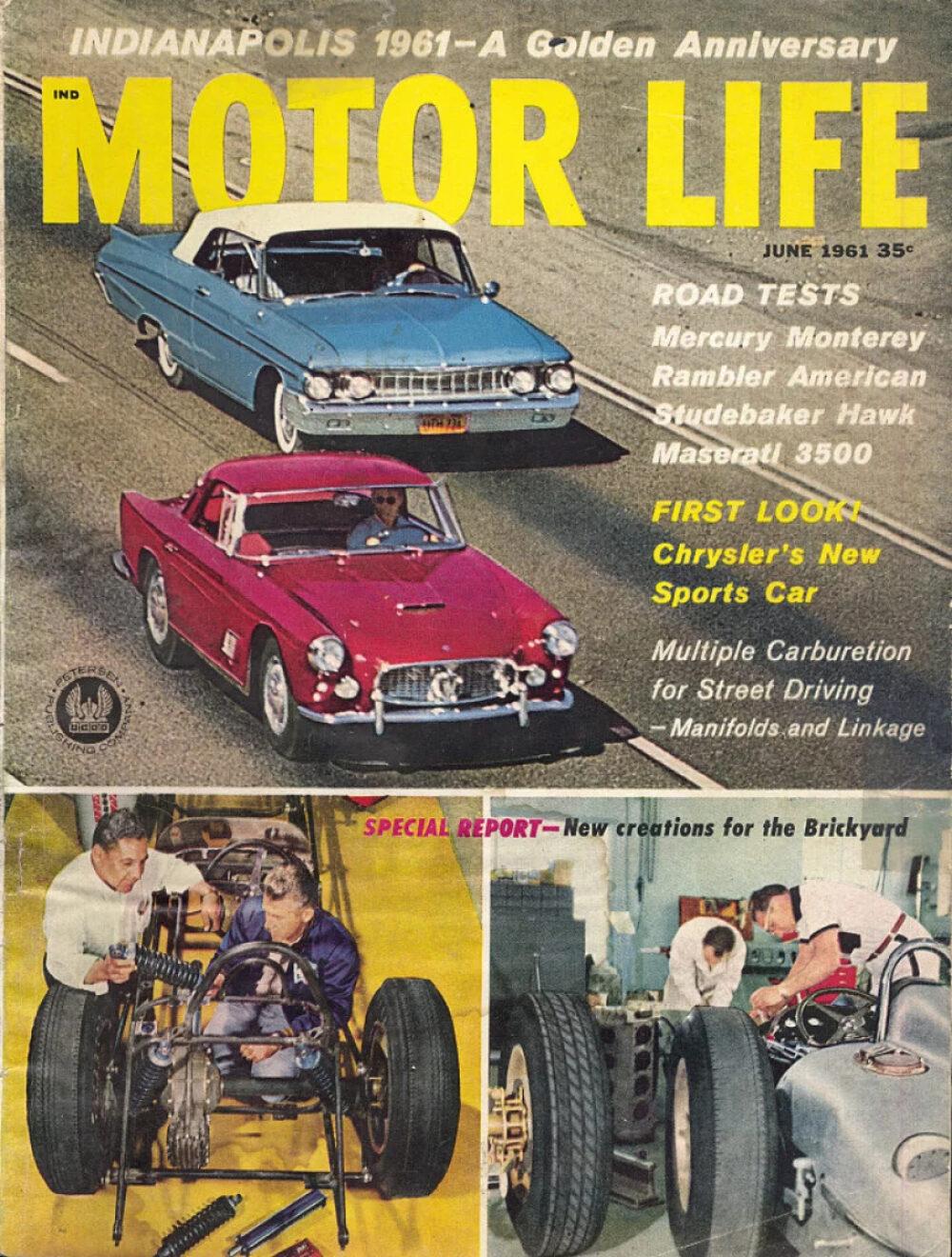 Motor life vintage magazine jun 1 1961